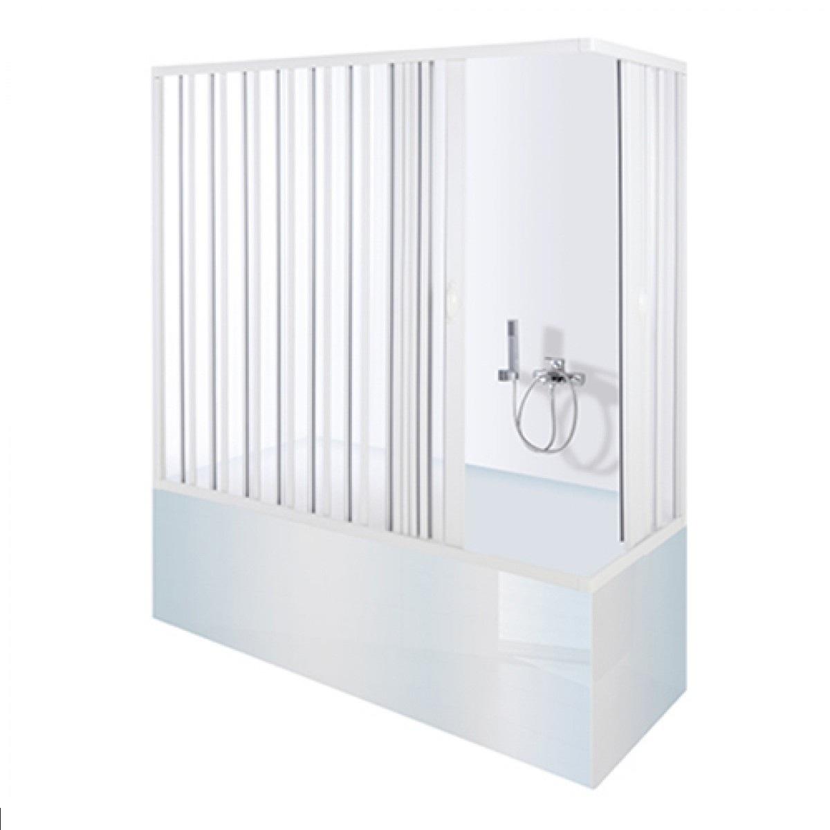 Box doccia sopra vasca pvc con apertura centrale box - Box doccia chiuso sopra ...