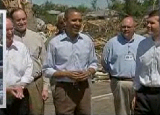 Video- Obama Enjoys Hearty Laugh During Speech in Tornado-Ravaged Village