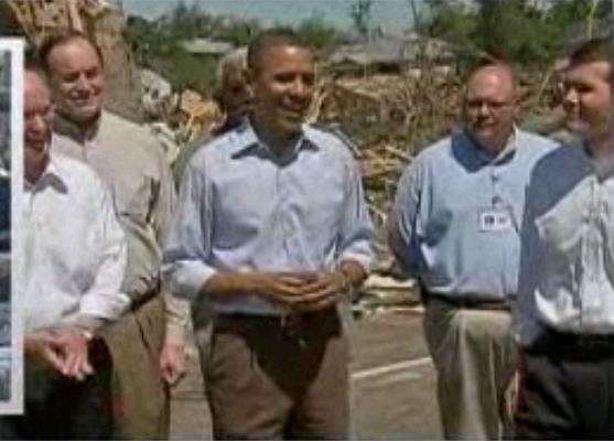 Video- Obama Enjoys Hearty Laugh During Speech in Tornado-Ravaged Village