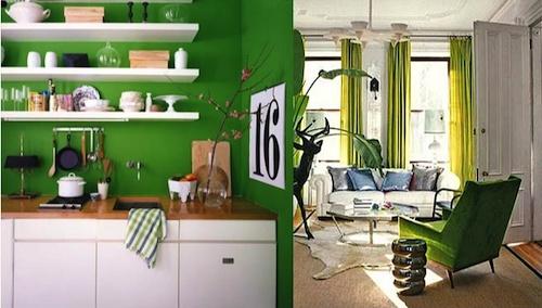 Marta decoycina color verde apuesta por el - Paredes verde pistacho ...