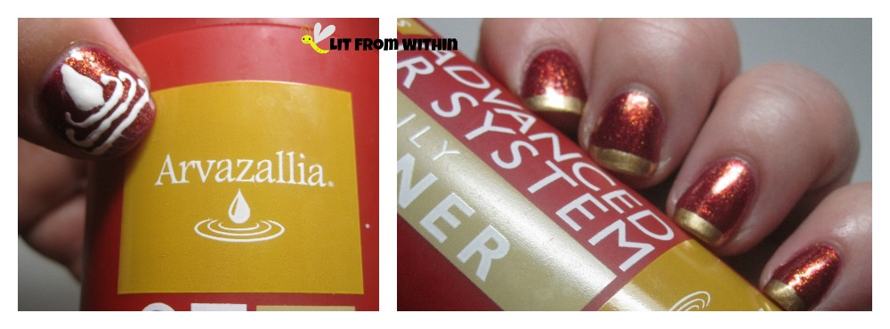 Arvazallia-inspired nailart