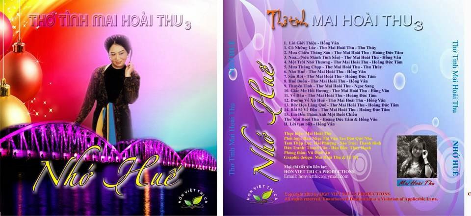 3) CD3: NHỚ HUẾ (Gồm 15 Bài Thơ Diễn Ngâm)