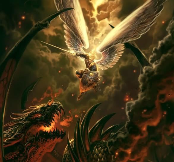 Arcanjo Miguel contra a Besta