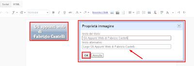 Proceduradi inserimento attributi ALT e Tittle alle immagini in Blogger
