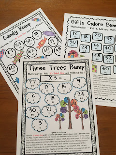 Multiplication Bump Games - 27 Printable Games