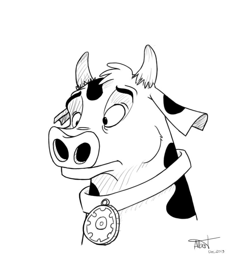 """""""Cow"""" - Albert Casado (nfok-e) - http://nfokedot.blogspot.com"""