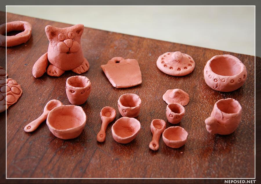 Как сделать фишки из глины