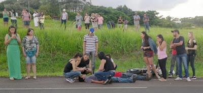 Dois Jovens ficam feridos em Jandaia do Sul (Distrito de São José)