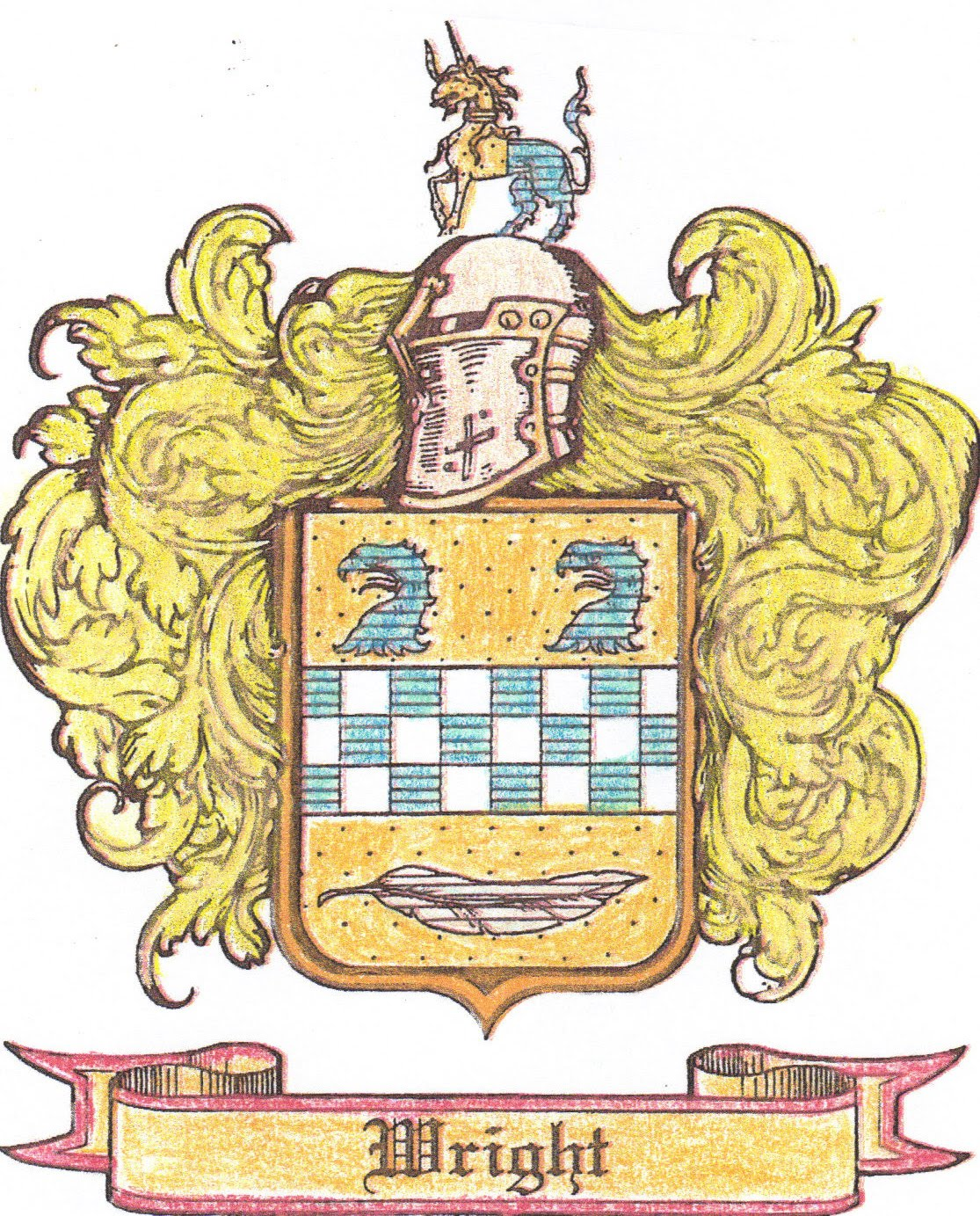 WRIGHT FAMILY CREST