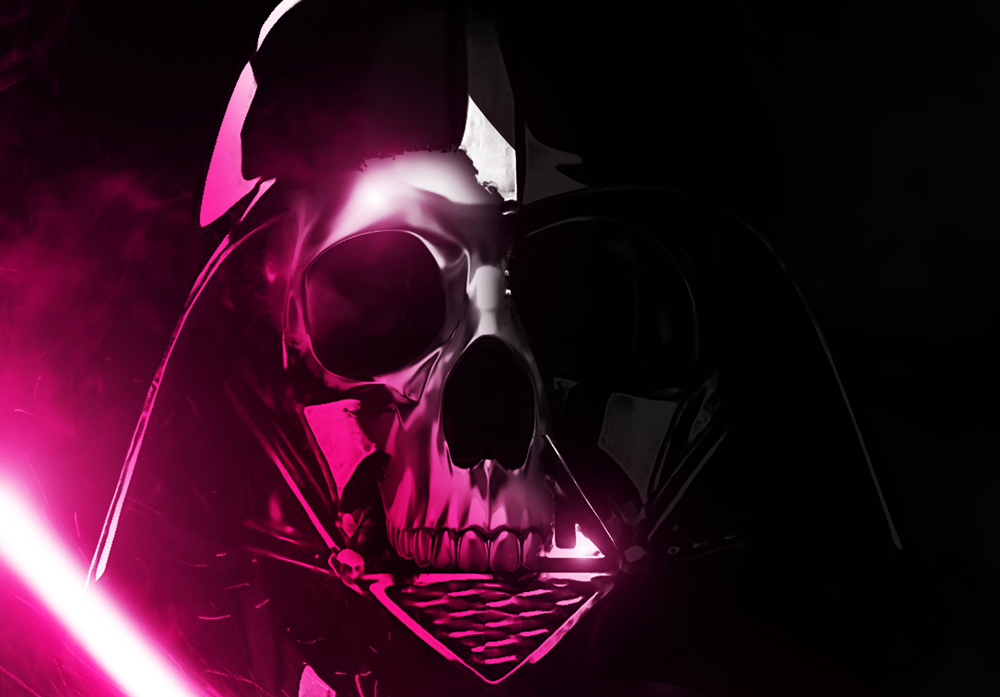 The daily zombies the skeletal side of darth vader