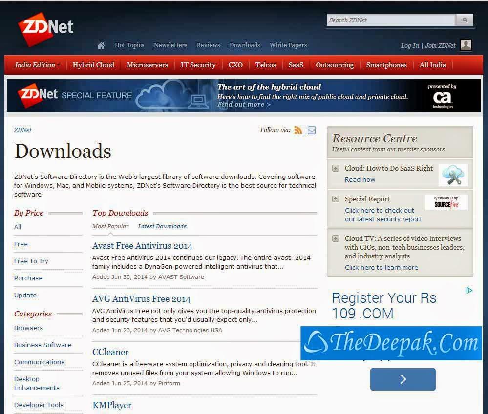 Downloads.ZDNET.COM Free Software Downloads