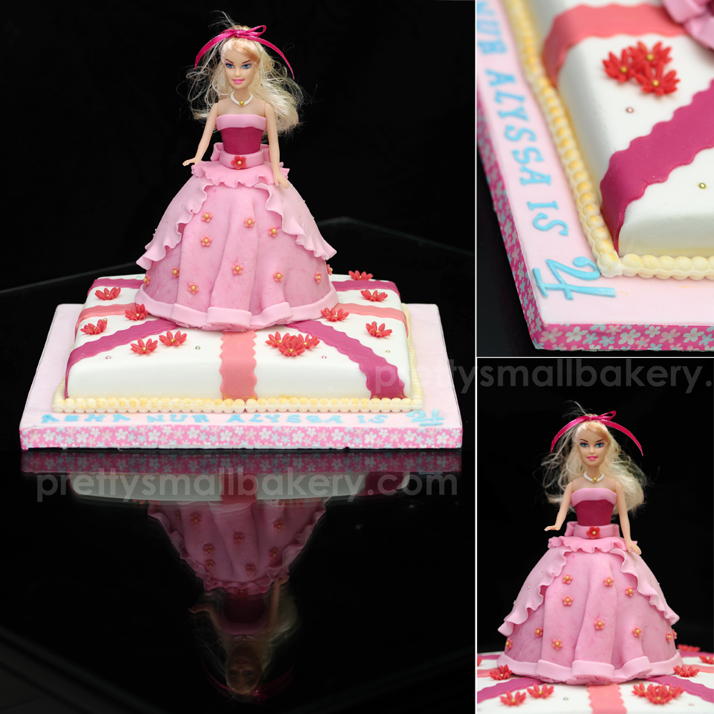 Kek Birthday Barbie Tuk ALYSSA -penghantaran Ke Seksyen 9