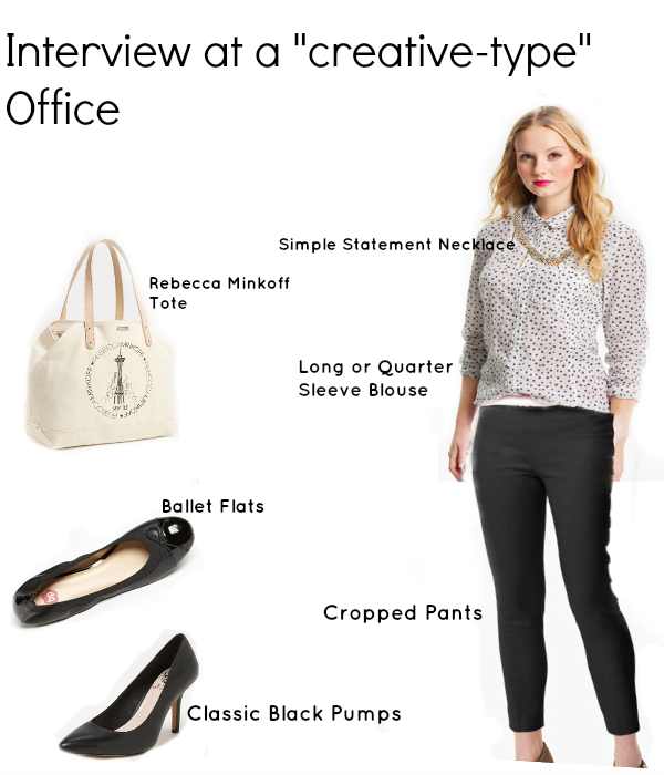the job interview outfit for a creative office