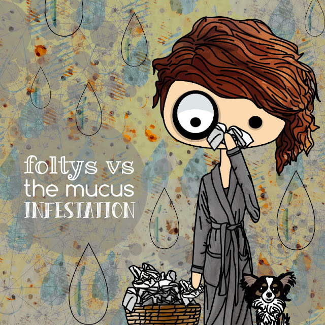 foltys vs the mucus infestation | ilustración original | original illustration