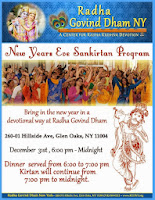 Sankirtan Program at Radha Govind Dham New York