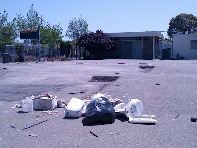 Future Site of the Emeryville Center for Community Life as Seen in April 2013