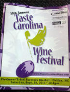 10th Annual Taste Carolina Wine Festival