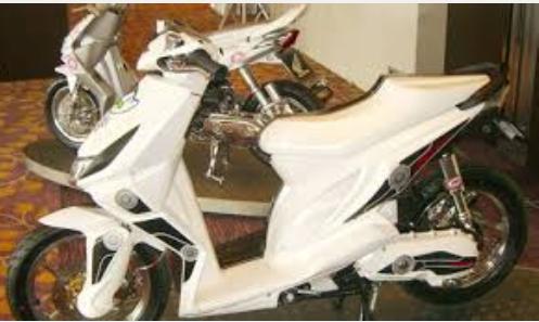Modifikasi motor beat fi warna putih keren