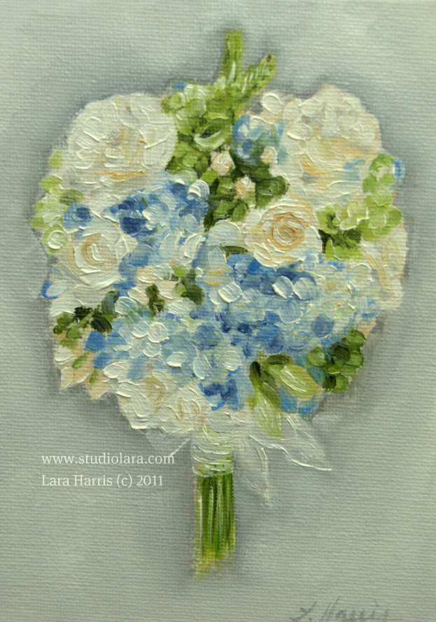 A Vintage Touch Custom Wedding Bouquet Paintings In OIL