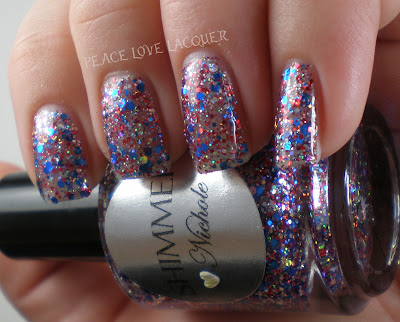 Shimmer, Nichole, Red, Silver, Blue, Indie, Glitter