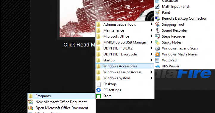 how to get the start menu back
