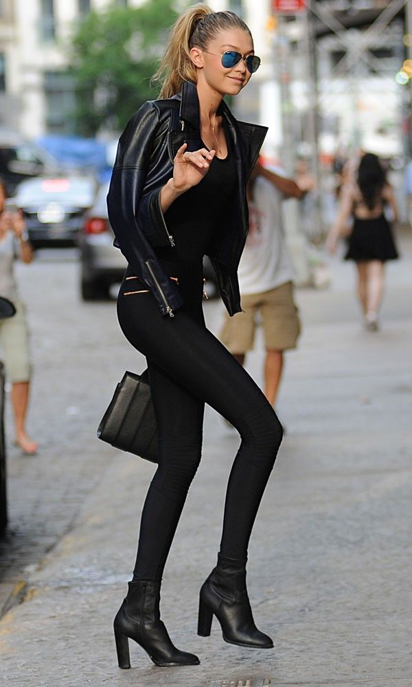 Just A Pretty Style Model Street Style | All Black Edgy Outfit