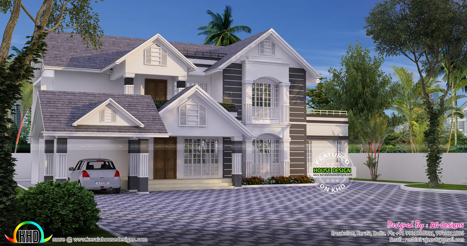 Sloped Roof House Design By Roshini Rajeev Kerala Home