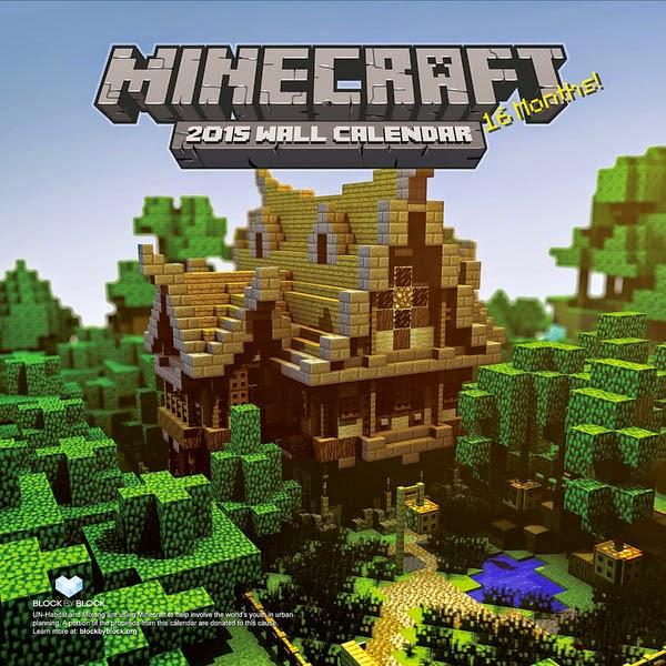 Calendario 2015 Videojuego Minecraft
