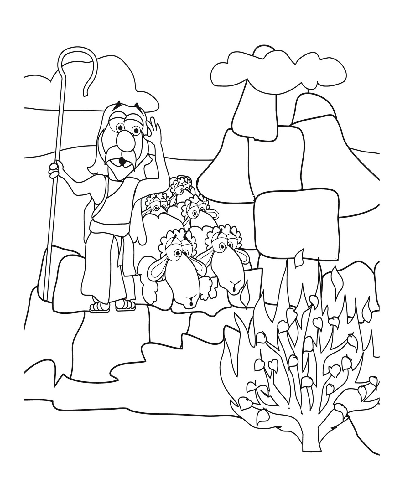 Coloring pages moses and ten commandments - Mrbiblehead Blogspot Com Moses Questiones God