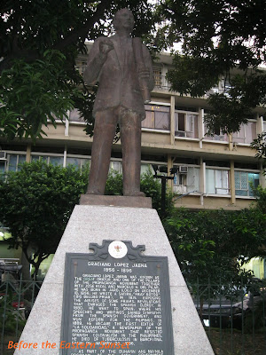 Intramuros - statue of Graciano Lopez-Jaena