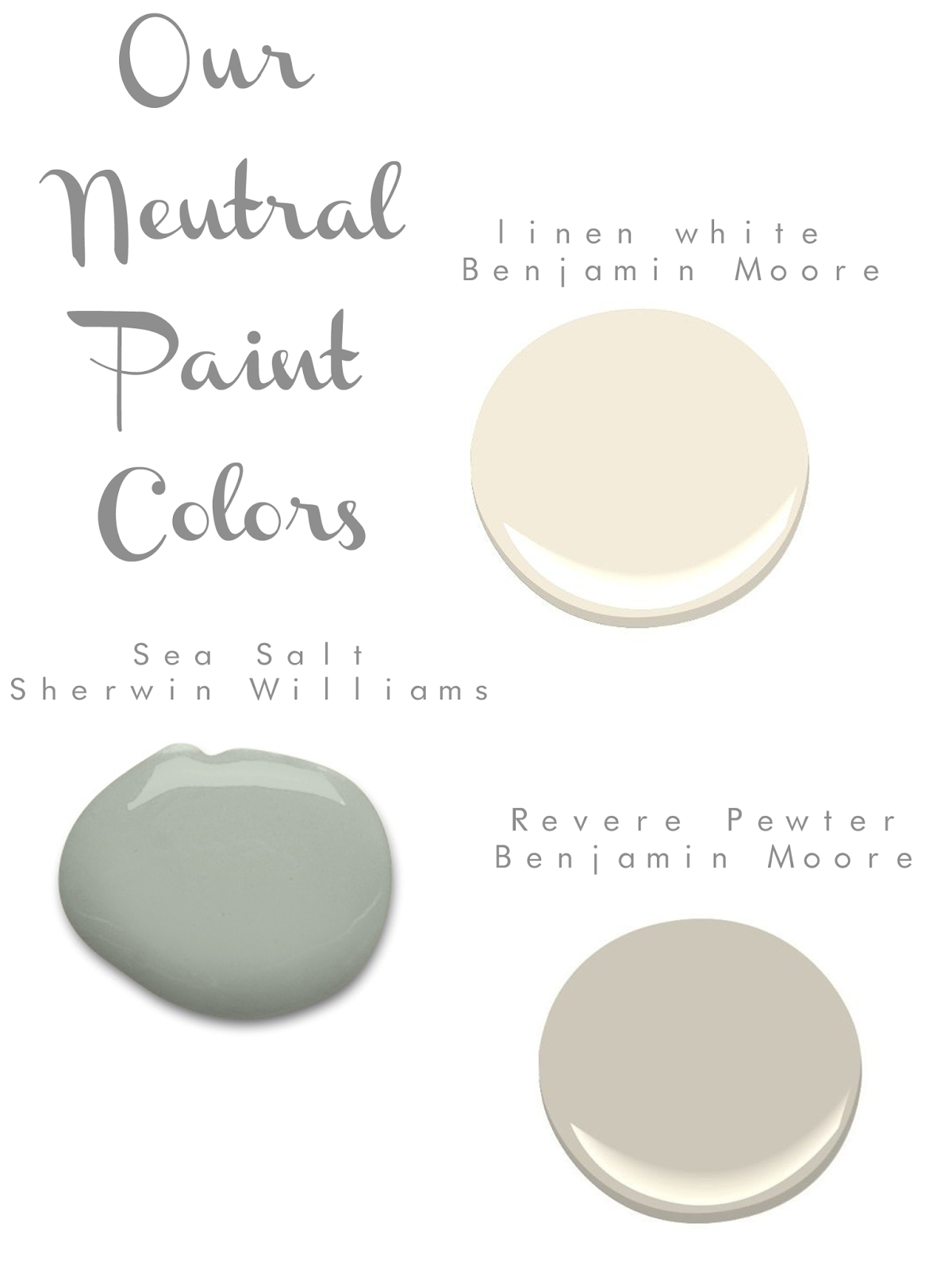 Sarah tucker our neutral paint colors for Whole house neutral paint colors