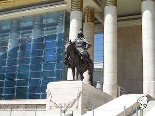 Mongolia Warrior Statue - Left Side.