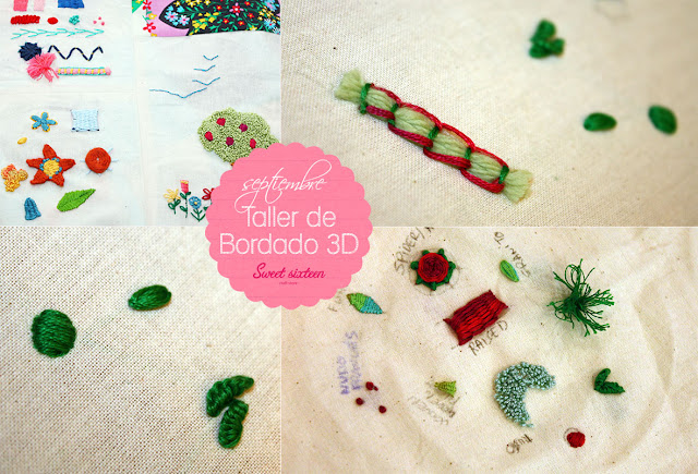 Taller Bordado 3D Sweet sixteen craft store, Madrid