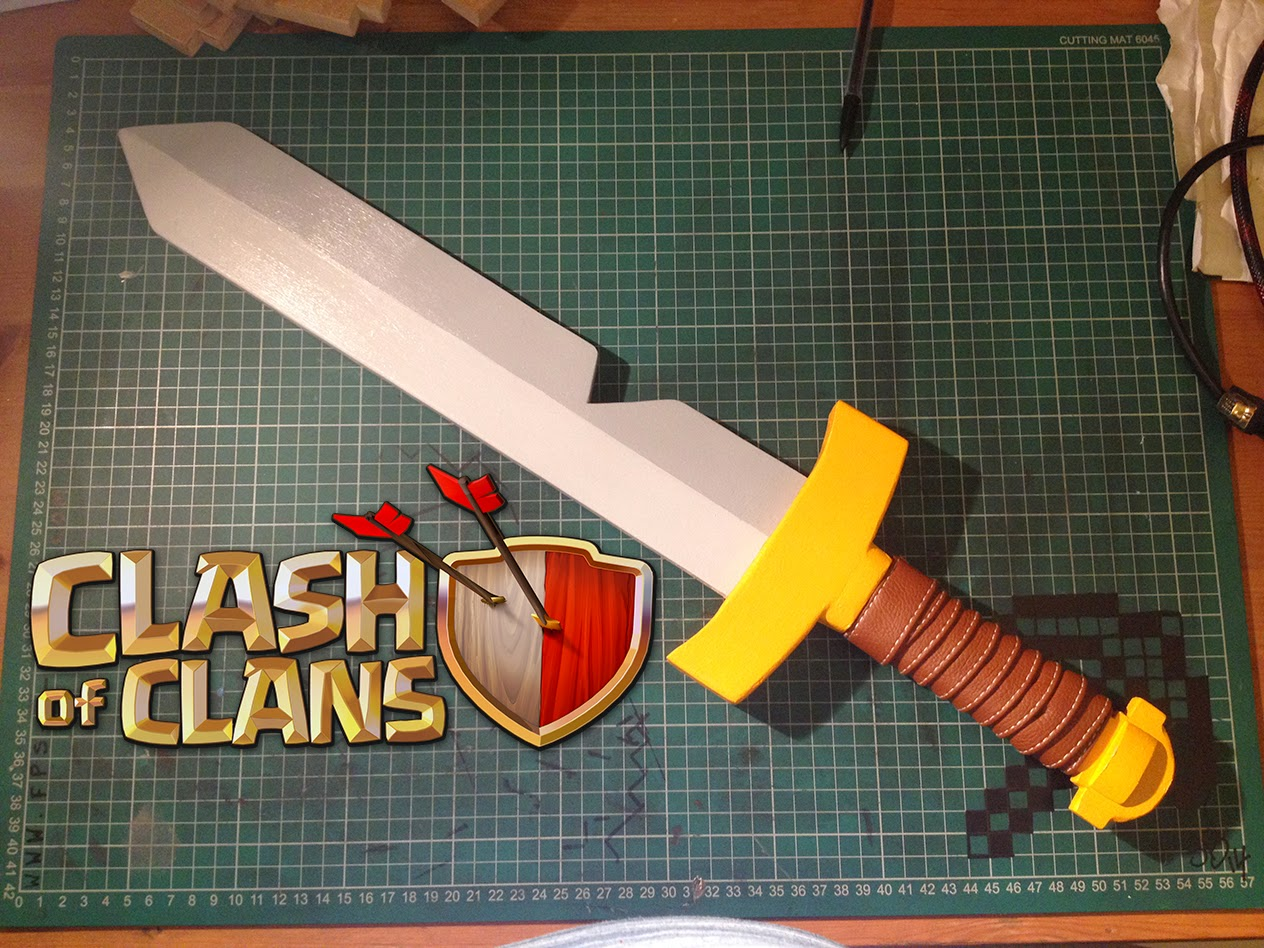 How I created a Clash of Clans barbarian sword
