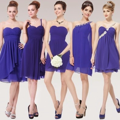 Nine-Design Urban Smart Sapphire Blue Bridesmaids Dress