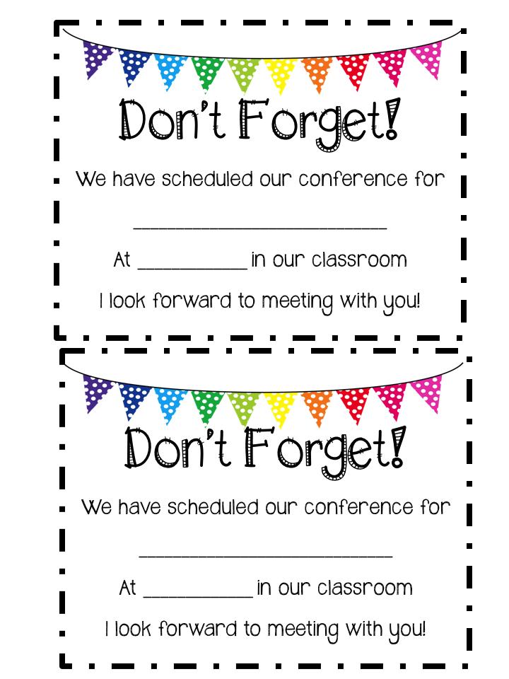 Mrs. MeGown's Second Grade Safari: Parent/Teacher Conferences ...
