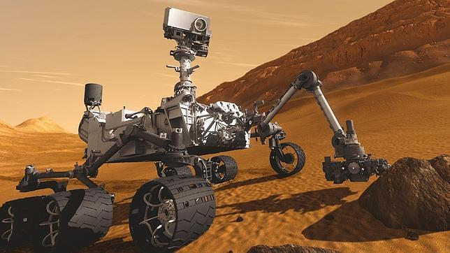 Rocas similares a las de la tierra en Marte