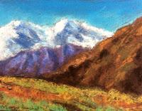 Soft pastel landscape demo done during art workshop by Manju Panchal
