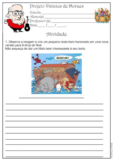 Atividade Produção Textual Projeto Vinícius de Moraes