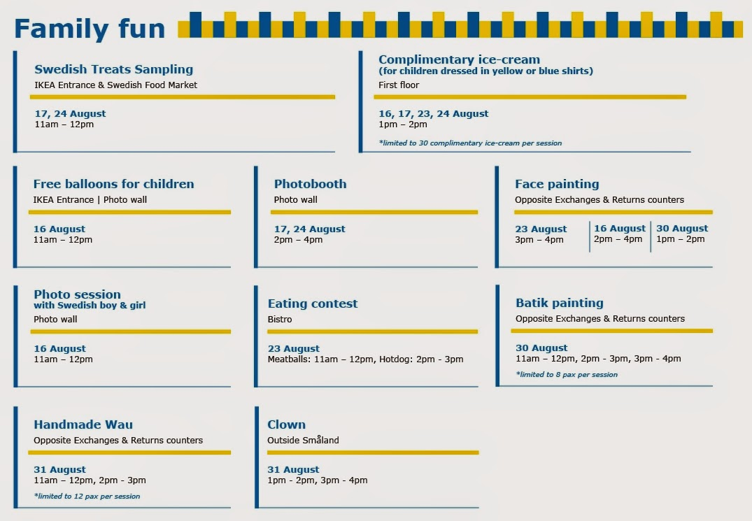 IKEA Family Fun Event Today 16 August 2014