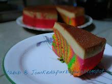 Kek Pelangi Karamel