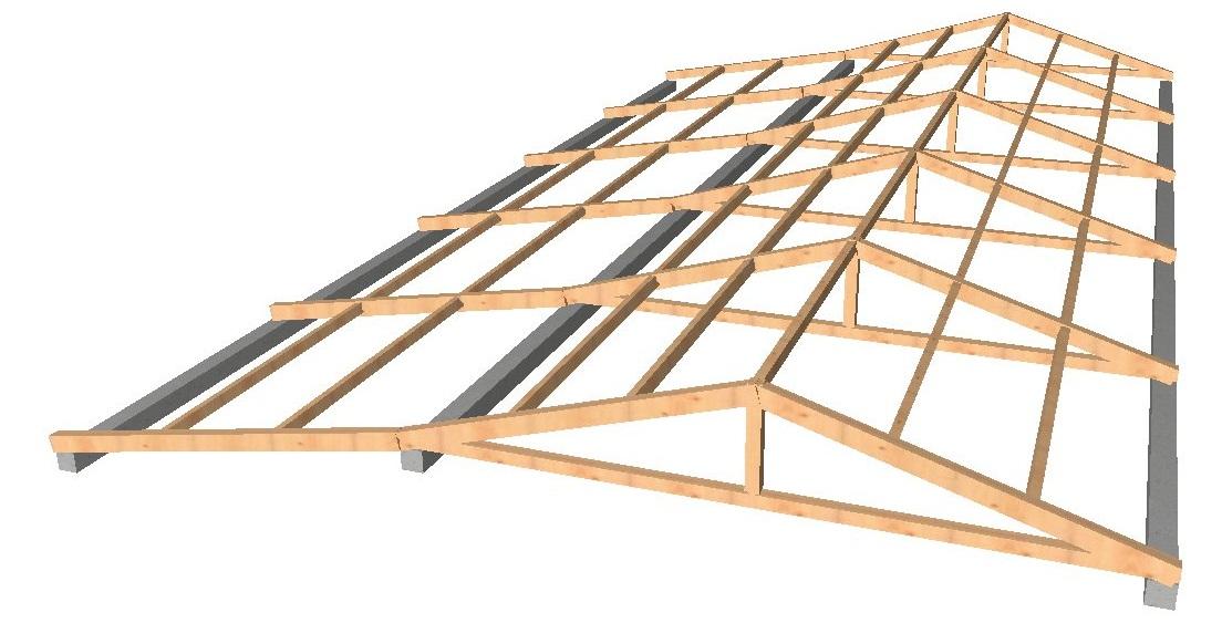 Gsv ingenier a obras - Estructura de madera para cubierta ...
