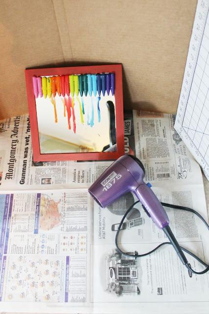 miss kopy kat melted crayon mirror. Black Bedroom Furniture Sets. Home Design Ideas