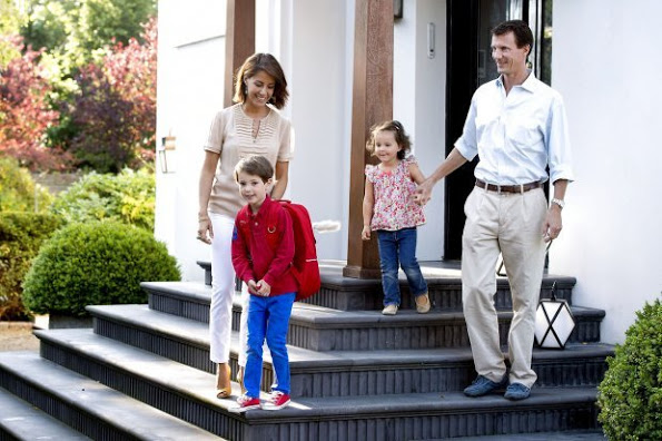 Prince Henrik Of Denmark Started First Day Of School