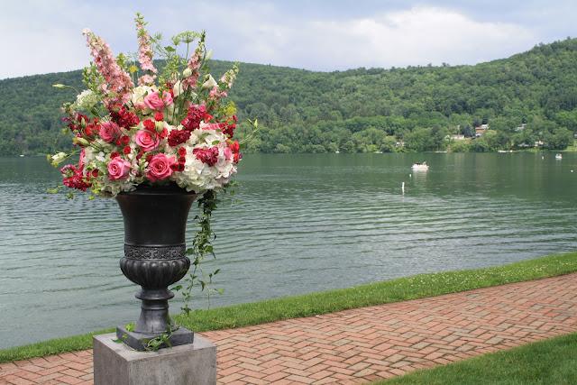Otesaga Resort Wedding Ceremony Flowers - Splendid Stems Floral Designs