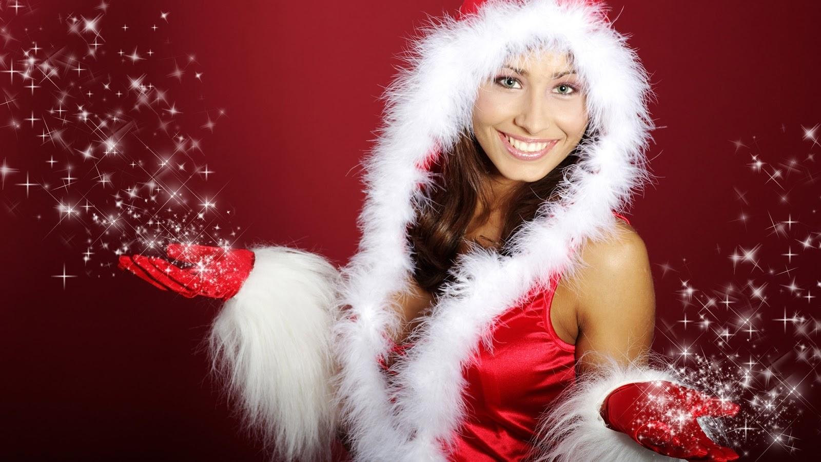 beautiful girls happy christmas wallpapers full hd