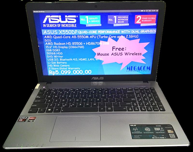 Harga Dan Spesifikasi Asus X550DP AMD A8