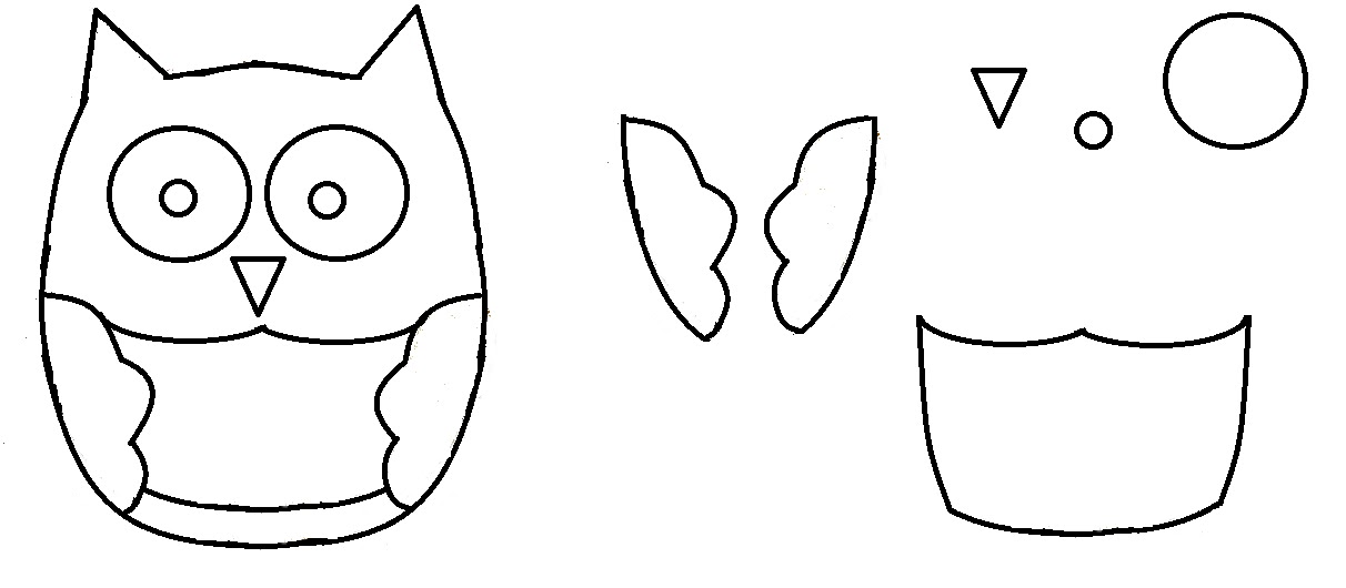 Print out an owl template. Here's the one I made for my owl: