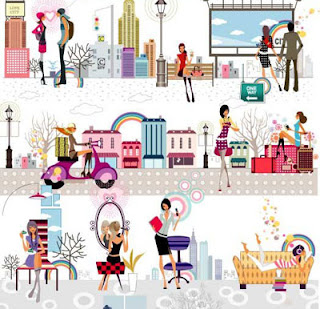 Woman Lifestyle, Shoping, love, story, travel, song, music, download vector wanita, download vektor shoping