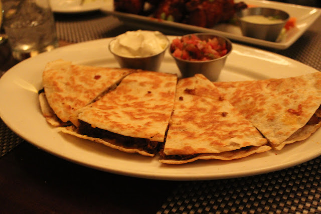 Chipotle-braised chicken quesadilla at West on Centre, West Roxbury, Mass.